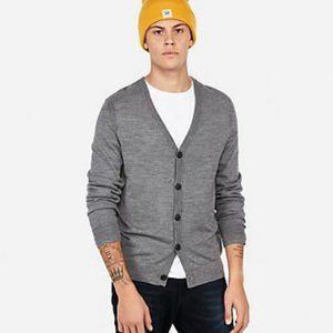 Express Merino Wool Bland Open Cardigan